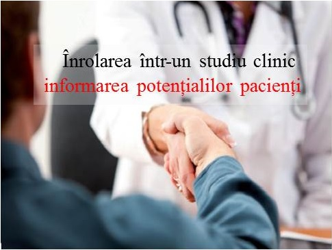 Enrollment in a clinical trial: informing potential patients | Article in Viata Medicala
