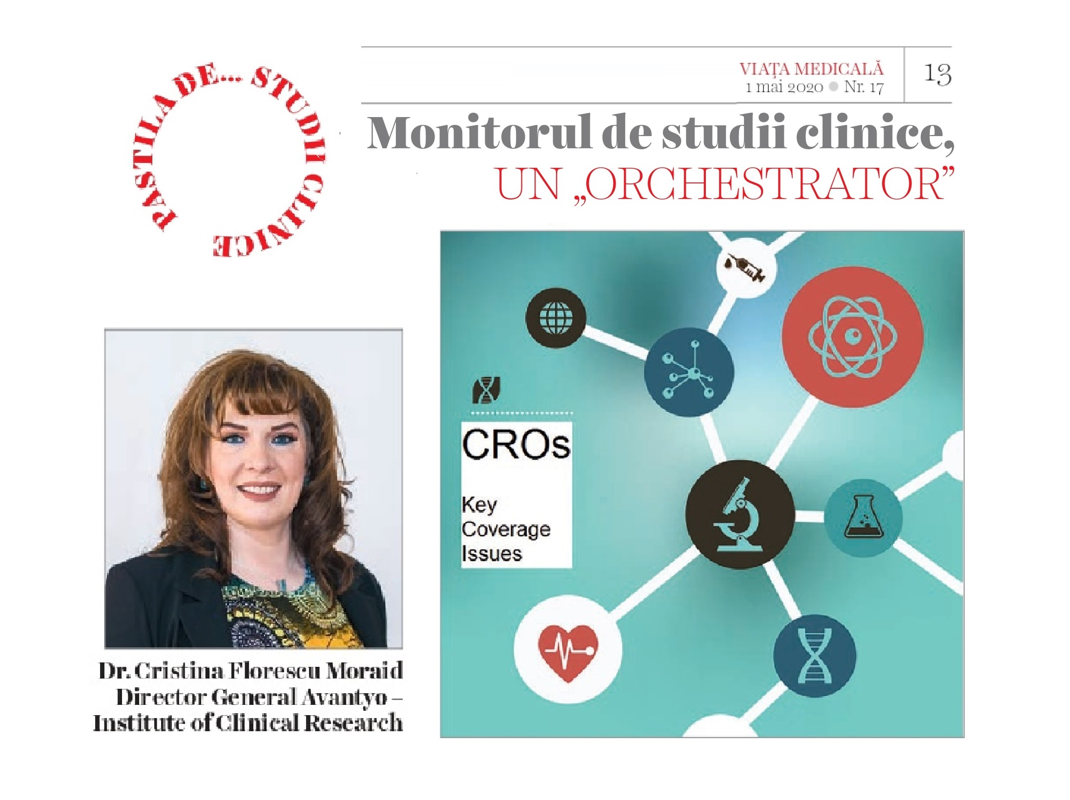 The Clinical Trials Monitor, an ``orchestrator`` –  article in Viata Medicala Magazine