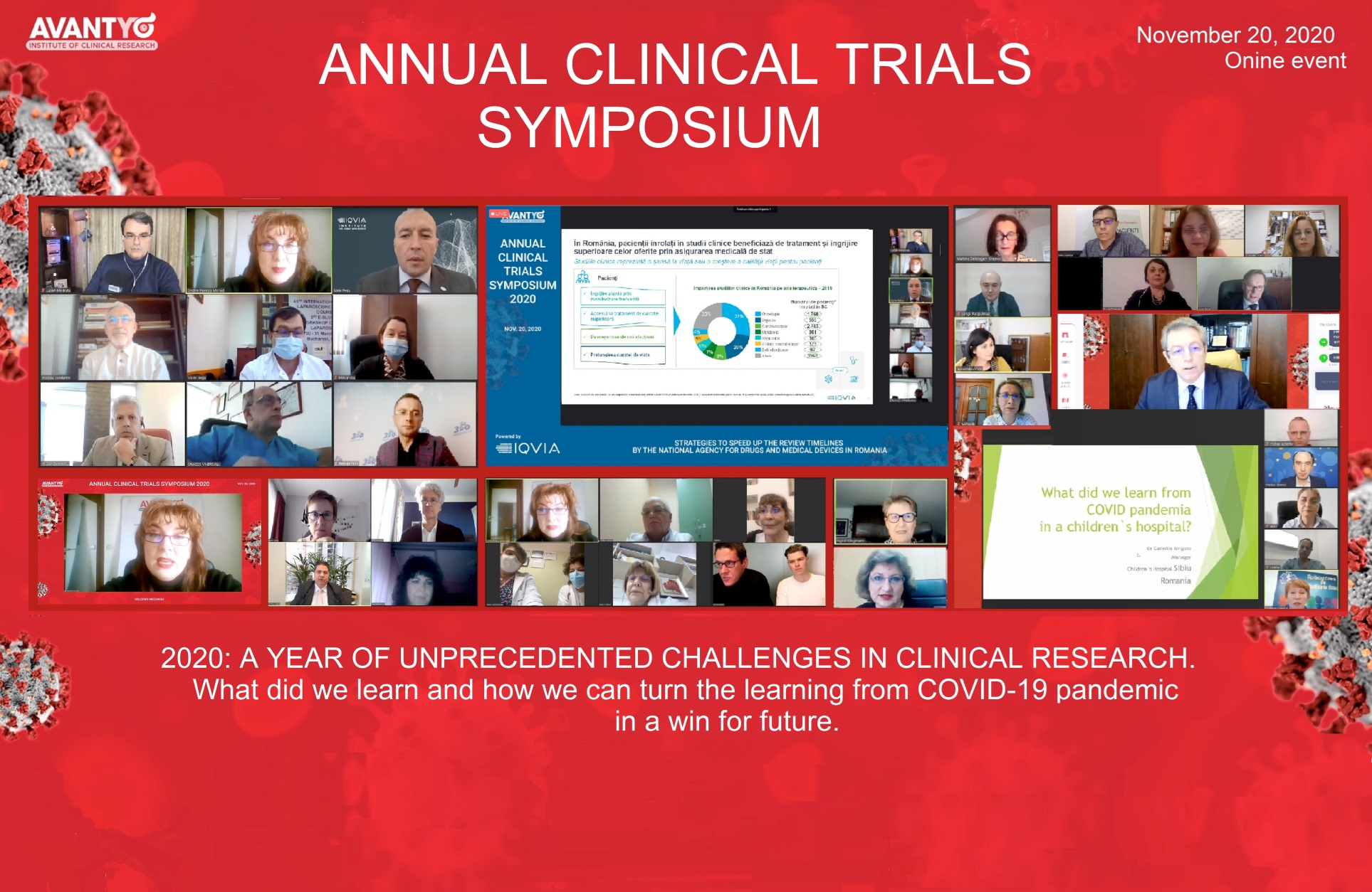 Conclusions and numbers of the Annual Clinical Trials Symposium 2020
