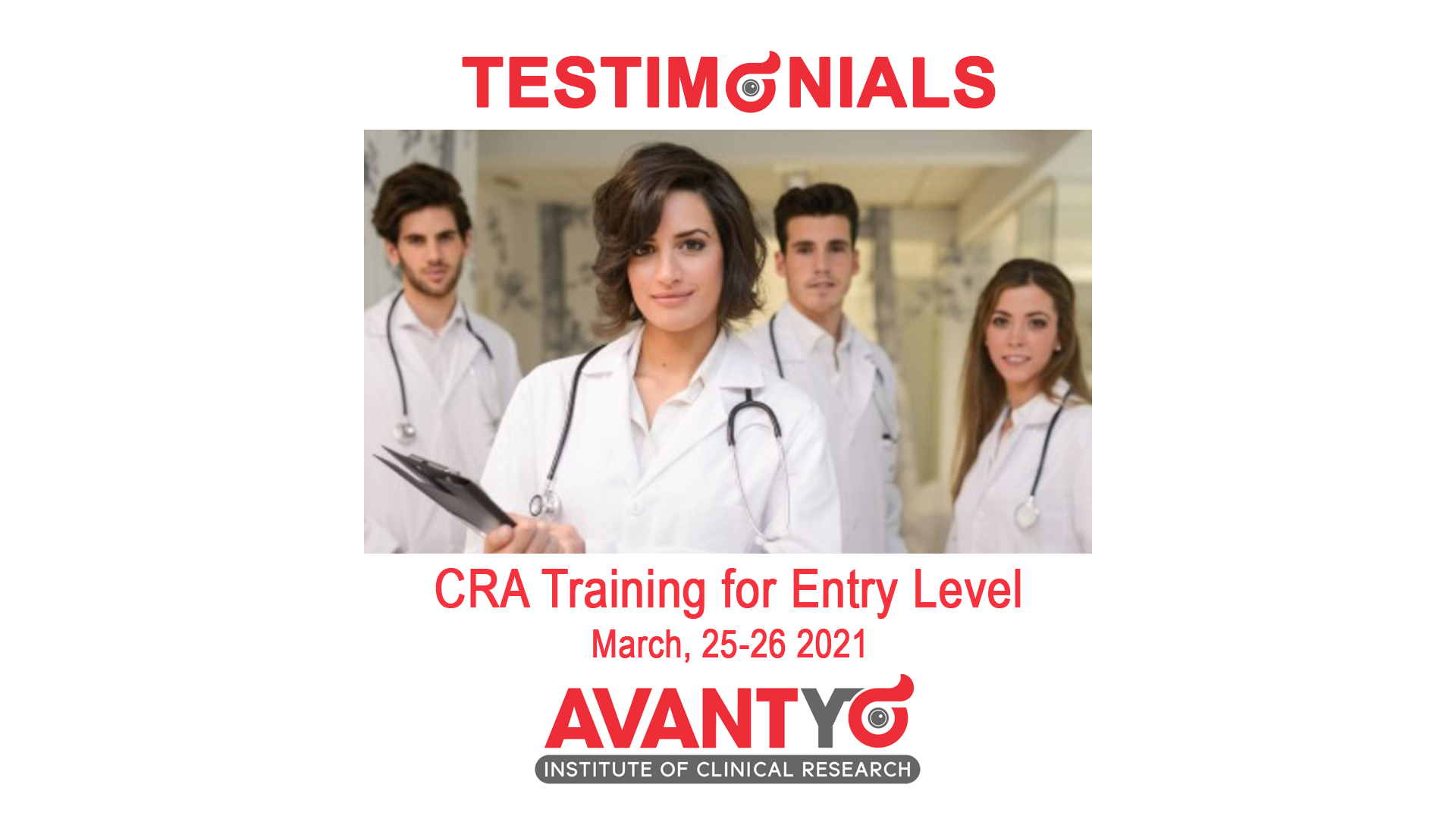 TESTIMONIALS - CRA Training for Entry Level - March, 25-26 2021