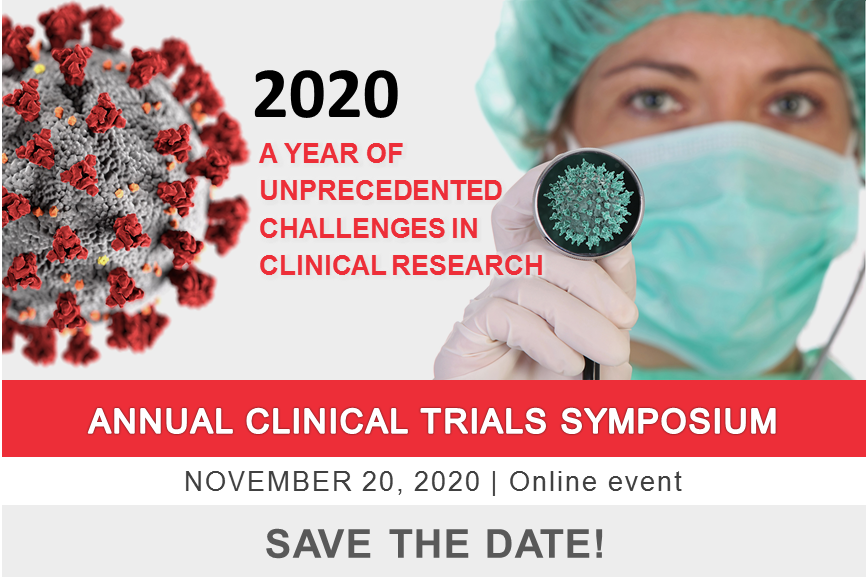 SAVE THE DATE for the Annual Clinical Trials Symposium | November 20, 2020